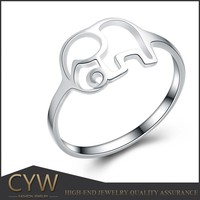 CYW india white elephant 925 sterling silver ring jewelry Guangzhou of wholesale
