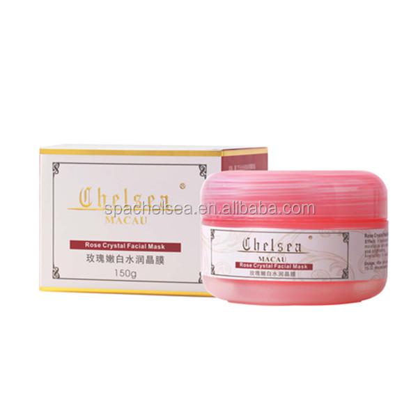 Hot vente rose cristal blanchiment soins de la peau masque facial