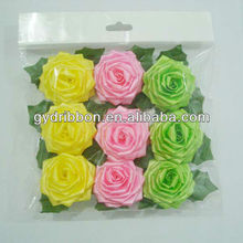 """2.5"""" Colorful Mesh Rose Bow and Glitter Rose Ribbon for gift bag/garments/toy decoration"""