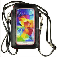 Universal Full touch Messenger Bag Leather Card Slot Case for iphone 4 4s 5 5s 6 samsung
