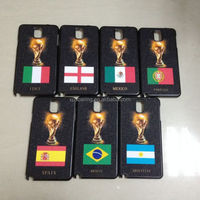 World Cup Plastic case cover for Samsung Galaxy Note 3, Shining cover for Samsung N9000
