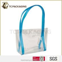 TC14078 PVC beach cosmetic handbag stand up zipper bag