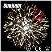 ciondolo luce industria calata lustro lusso di vetro moderno bianco/nero albero del corallo ciondolo lampade da sala soggiorno