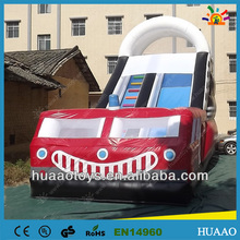 2014 new design inflatable fire truck slides