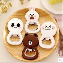 Best selling cartoon silicone bottle opener with fridge magnet,Hottest Silicone Wine Bottle Opener