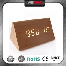 Promotional Hot Sell Promotional Full Color Custom-Made Display Temperature Digital Clock Keychain