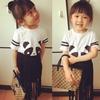 MS65717C children kids fashion outfits panda suit
