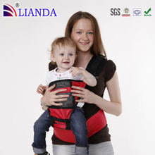 Multifunctional front and back cotton carrier,Ergonomic design hipseat belt for kids,100% Oranic Cotton baby safety car seat