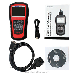 100% Original Autel Maxidiag Elite MD802,OBD2 Code Scanner for 4 Systems Engine/ Trasmission/ ABS/ Airbags with best price obd2