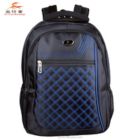 2015 Embroidery Honeycomb Plaid Nylon Soft Laptop Bag 19 inch College School Backpack