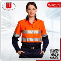 new design uniform lady blouses
