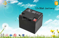 China manufacturer 12v 38ah high capacity valve regulated gel battery solar battery 12v 38AH rechargeable batteries