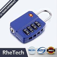 Superior security brass steel luggage tsa combination door pad lock