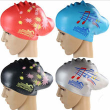 Hot Sale Promotion Gift Printing Silicone Swimming Cap for Long Hair
