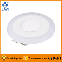 Competitive Price 12W+6W LED Suspended Round Panel Ceiling Light double color Fitting POP Down Lighting