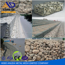 Hexagonal Wire Mesh Gabion Box for Control and Guide of Water or Flood