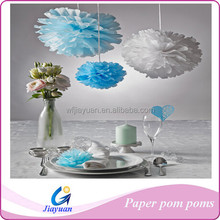 Baby Shower Favours Stuff Paper Pom Poms with Pantone Color