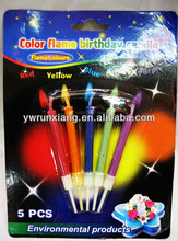 Color flame candle for birthday and party