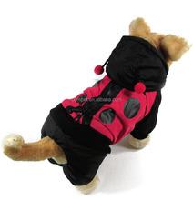 Dog Clothing Autumn Winter 3D Ladybird Pet Dog Dust Coat