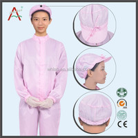Factory Cleaning Pink Workwear Esd Fabric Safety Suit