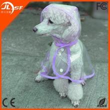 2015 wholesale Fashionable cloak type transparent pet raincoat