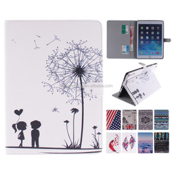 Wholesale For iPad Air PU Leather Case Wallet Style Stand Case with Card Slot