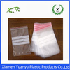 100% virgin HDPE/LDPE/PE material ziplock plastic bag