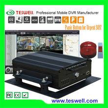 Profesional de China de 8 canales DVR portátil con GPS y 3G disco duro bus del sistema de vigilancia fabricante TESWELL