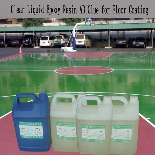 Liquid Hardener Floor : Liquid epoxy resin and hardener for cement floor coating