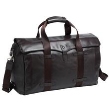 unisex leather travel bags 2015/ vintage leather shoulder bag / oversized leather tote bag