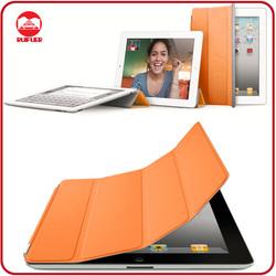 High Quality Orange Slim Thin Magnetic Leather Smart Wake/Sleep Cover Flip Case for Ipad 2 3 4