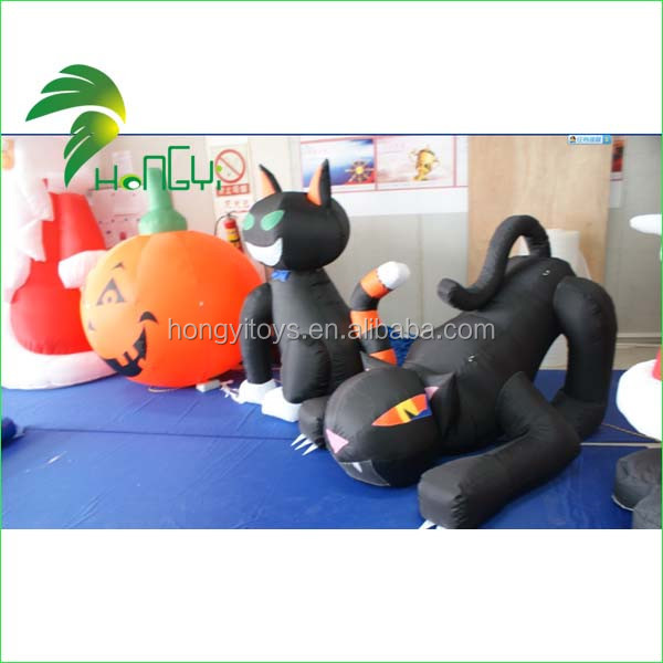 Inflatable Hallowmas Cat (3)