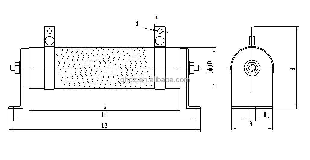 large power wire wound brake resistor 1500w