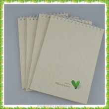 High quality simple custom sketch book for student with leave picture