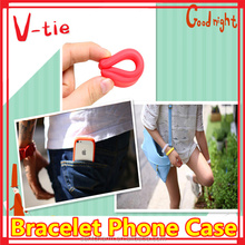 Creative new phone case, wholesale silicone bracelet mobile phone housing faceplate