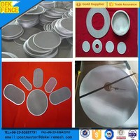 flat round stainless steel sieve filter