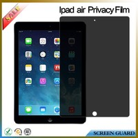 Promotional anti spy privacy screen protector/film/guard for apple ipad 5 air