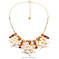 Shijie Factory jewelry Handcraft 18K Gold Pearl Charming Necklace