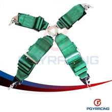 PQY STORE-KATA Style Seat Belt with 4pcs FIA 2018 Homologation /Harness/Racing Satefy Seat Belt/width:3 inches/4Point PQY-SB31