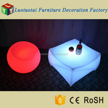 Export Europe Color Changing Plastic Lounge Table LED, Coffee Table LED, LED Tisch Lounge