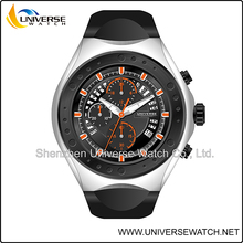 Multi-function date and day flip sports watch with silicone band UN4077G-3