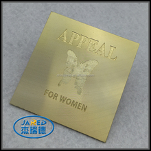 Cheap Price Handmade Butterfly Nameplate Metal Gold Crafts Customized Adhesive Aluminum Label