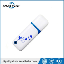 Shenzhen wholesale 2GB 4GB 8GB Blue and white porcelain pvc usb flash drive