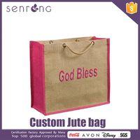 Jute Shoping Bag Jute Double Wine Handle Bag