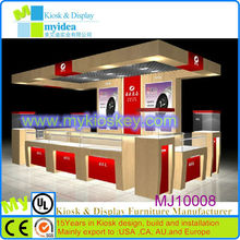 Customized style unique design jewelry display case, glass showcases, jewellery shop furniture