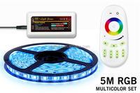 DC12V-24v RF Remote led lighting Controller with 5key 5050 Flexible RGB LED Strip Lights group flash led lighting controller