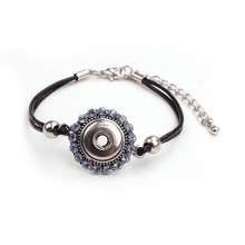 Jewelry Supply New Trend 2015 Snap Button Teenage Bracelet Accessories Crystal Fine Jewelry