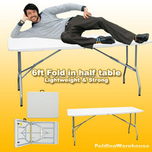 6ft plastic folding half table HQ-Z183 wholesale USED 6' Plastic Folding Tables With Competitive Quality And Price made in china