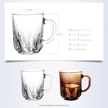 Hot sell , glass cup with handle glass mug Cup