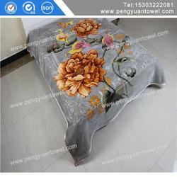 pengyuan heavy weight double ply korean raschel blanket